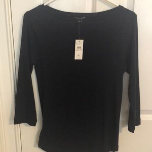 Ann Taylor boat neck 3/4 t shirt